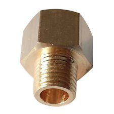 "BSP-NPT Adapter 1/4"" Male BSPT to 3/8"" Female NPT Brass Pipe Fitting Euro to US"