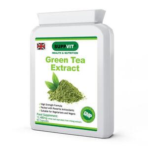 High Strength Antioxidant Green Tea Extract EGCG Weight Loss 12480mg 90 Capsules