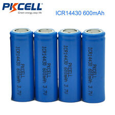 4 x 3.7V ICR14430 600mAh Battery 14430 Li-ion Rechargeable Batteries Cell PKCELL