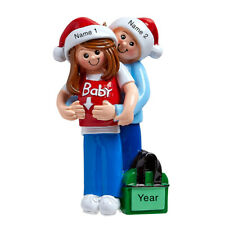 Personalized Christmas Ornament - It's A Baby - Expecting Couple Parents - Gift