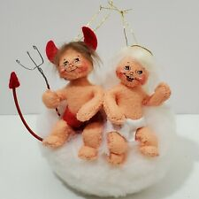 Annalee Naughty Or Nice Baby Angel Ornament 75th 3""