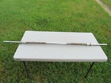 "Vintage Standard 1 Inch, 60"" (5 Foot) Chrome Steel Barbell Weight Bar, Arm Curls"