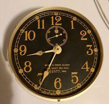 1940 Seth Thomas Mark I- U.S.Navy Marine Boat clock Brass