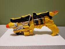 Power Rangers Yellow Dino Charge Morpher Gun Blaster Bandai Charger w/Charger