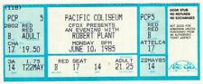 Robert Plant *Rare*1985 Vancouver Concert Ticket Pacific Coliseum led zeppelin