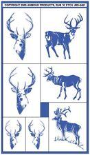 Armour Rub 'n' Etch Glass Etching Stencil Set  ~ Bucks Doe Whitetail Deer