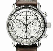 Zeppelin Men's Chronograph Watch 76801 With Alarm Date Function and Tachymeter