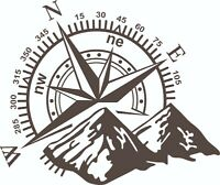 MOTORHOME CAMPER VAN CARAVAN / STICKERS /DECAL / GRAPHIC / COMPASS / MOUNTAINS/