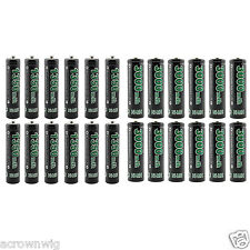 12 AA 3000mAh + 12 AAA 1350mAh 1.2V Ni-MH Rechargeable Battery GO!GREEN For Toy