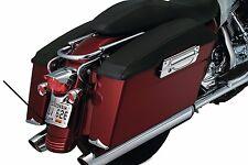 Kuryakyn Black Leather Saddlebag Lid Covers Protectors Set Harley Touring 93-13