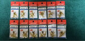 Lot of 12 packs - Eagle Claw Crossline 1/0 Swivels 01061-019 Brass 2 per pack