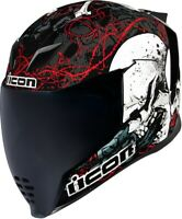 Airflite Full Face Helmet - Skull18 Black Large Icon 0101-11200