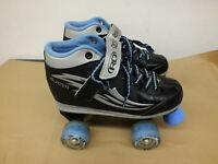 Roller Derby Youth Blazer Skates Black/Blue Size 4 Jr Kids skate Light Up Wheels