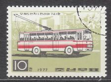 KOREA 1977 used SC#1590  10ch stamp, Trolley Buses.