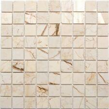 Marmormosaik golden cream poliert mit Struktur Fliese Art: 42-32-2807 10Matten