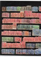 Timbres Tunisie avant indépendace : stock de multiples