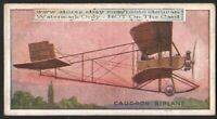 French Caudron Biplane  Avaiton History 100+ Y/O Trade Ad Card