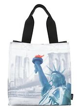 "Polyester Lunch handbag  Nylon ""World"" Cooler Tote New York"