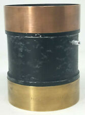 "Vintage Large Aldis Brass Camera Lens 18½"" Focus S.27 Brass and Black"