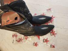 Los Altos genuine sting ray 14 2E ee extra wide black boots cowboy