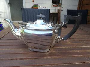 Teekanne, versilbert, englisch