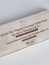 SOLIFA Savon Pur Végétal au Lait d'Ânesse à 4 % Crèmeux Extra-Doux