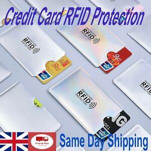 RFID Protection Credit Card Sleeve Credit Card Reader Blocker 5pc UK Fast&Free