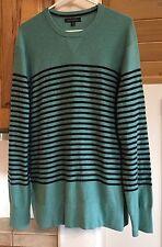 Banana Republic size XL long sweat shirt light blue and dark blue stripes