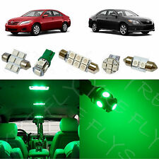 11x Green LED lights interior package kit for 2007-2011 Toyota Camry TC3G