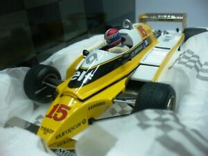 WOW EXTREMELY RARE Renault 1980 RE20 Turbo Jabouille Winner Austria 1:18 Exoto
