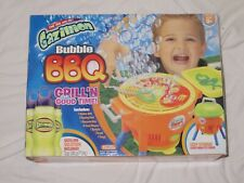 Gazillion Bubble BBQ Automatic Bubble Blower with Bubble Solution NIB