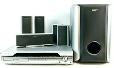 Sony Home Theater Receiver HCD-DX255 5.1-Ch 5-DVD & speakers Tested no remote