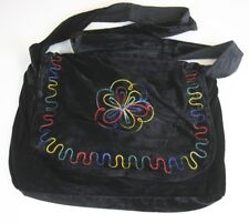Gothic Hippy Boho Ethno Shoulder Bag Panne Velvet Corduroy Bag