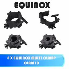 4 X EQUINOX MULTI CLAMP CLAM10 LED DJ DISCO STAGE LIGHTING QUICK CLAMP BRACKET