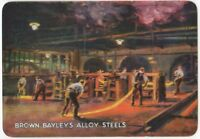 Playing Cards 1 Single Card Old Wide BROWN BAYLEYS ALLOY STEEL Advertising Art