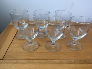Queens Coronation 1953 Souvenir Beer Shandy Sherry Wine Glasses x 6 Boxed