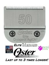 Oster A5 ELITE Cryogen-X TITANIUM 50 Clipper Blade*FitsMost Andis*LAST 3X LONGER