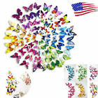 72pc 3d Wall Butterfly Art Design Mural Stickers Wall Home Room Decoration Decal