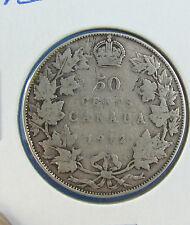 Canada 1912 50 cents silver nice coin VG
