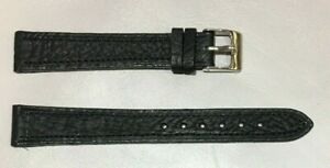 Pulsera Correa de Reloj Piel Legítima Cuero 14 mm Negro | Piel de Toro 241