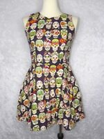 Hemet Frida Medium Dress Sugar Skull Dia De Los Muertos Rare Hard to Find