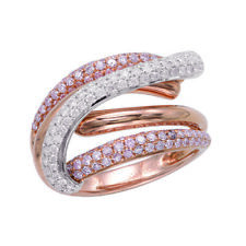 1.27ct Natural Argyle 6P Fancy Pink Diamonds Engagement Ring 18K Solid Gold Band
