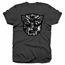 Men's Transformers Autobot Shield Black and White Montage T-shirt