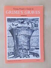 VINTAGE 1977 TOURIST GUIDE - GRIME'S GRAVES - NORFOLK