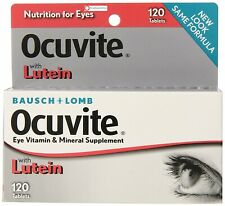 Bausch & Lomb Ocuvite Vitamin & Mineral Supplement Tablets with Lutein 120 Count