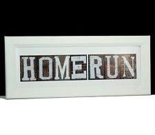 Framed Homerun Print Created with Color Advertising Art Photographs