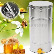 New 2 Frame Stainless Steel Honey Extractor Spinner Beehive Beekeeping 35x74cm