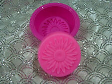 "Chocolate, melts -SOAP- making mould large ""Round"" mould, with flower print x 2"
