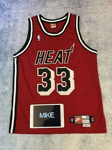 Authentic Nike Miami Heat Alonzo Mourning Alternate Pro Cut Jersey Tailored
