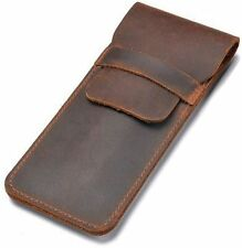 Daimay Leather Pen Case Holder Handmade Fountain Multi Pens Pouch Crazy Horse Le